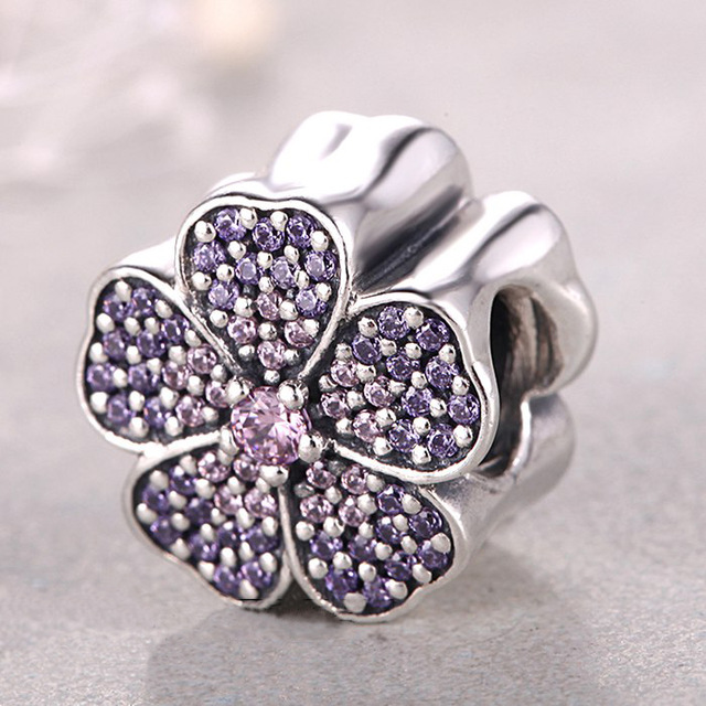 925-Sterling-Silver-beads-flower-Primrose-Charm-paved-Pink-and-Purple-Cz-Fits-pandora-bracelet-European.jpg_640x640
