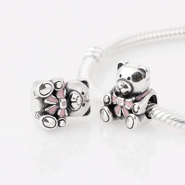 NEW-1pc-Free-Shipping-Silver-Plated-Charm-Bead-cute-Bear-Fit-Pandora-bracelets-.jpg_640x640